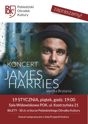 James HARRIES KONCERT PLAKAT lekki
