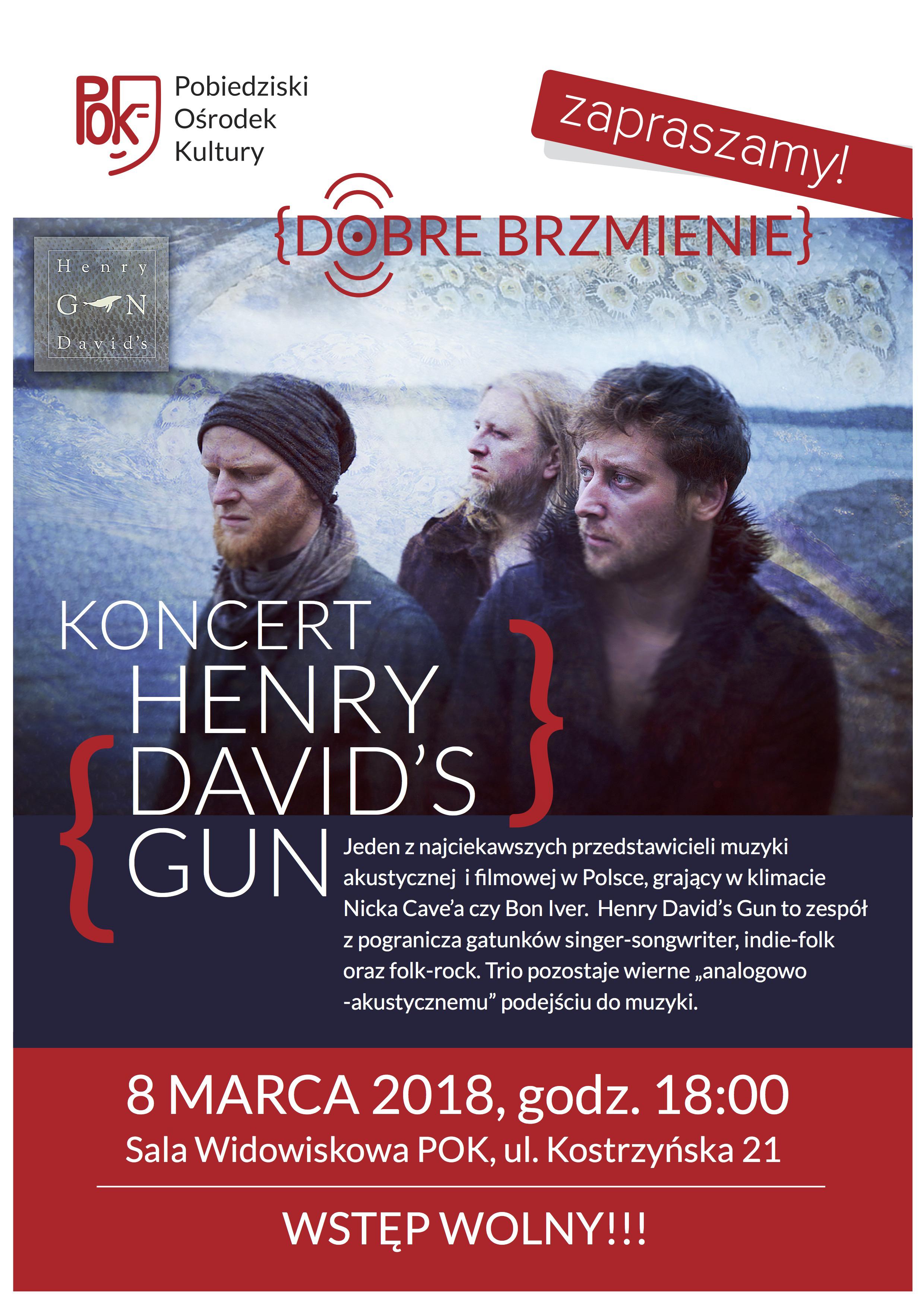 HENRY DAVID'S GUN KONCERT PLAKAT