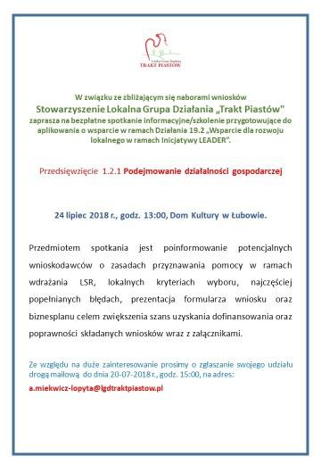 Info o szkoleniu 24-07-2018