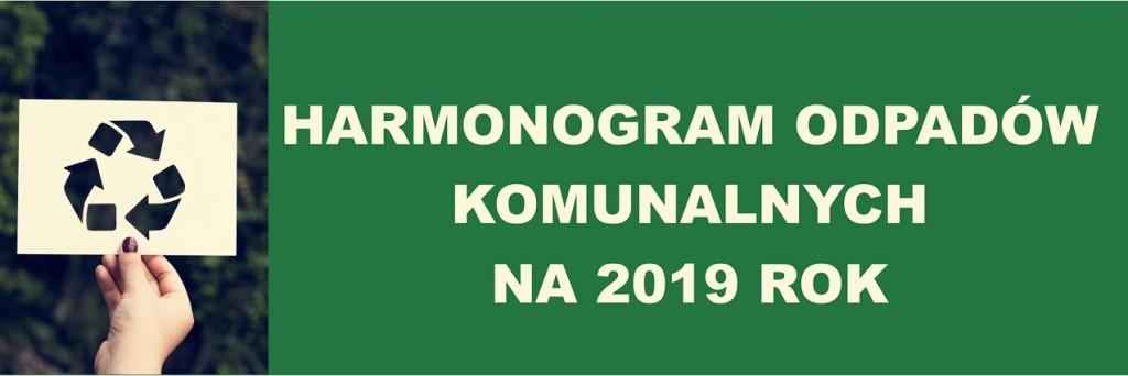 Harmonogram odpadów komunalnych 2019