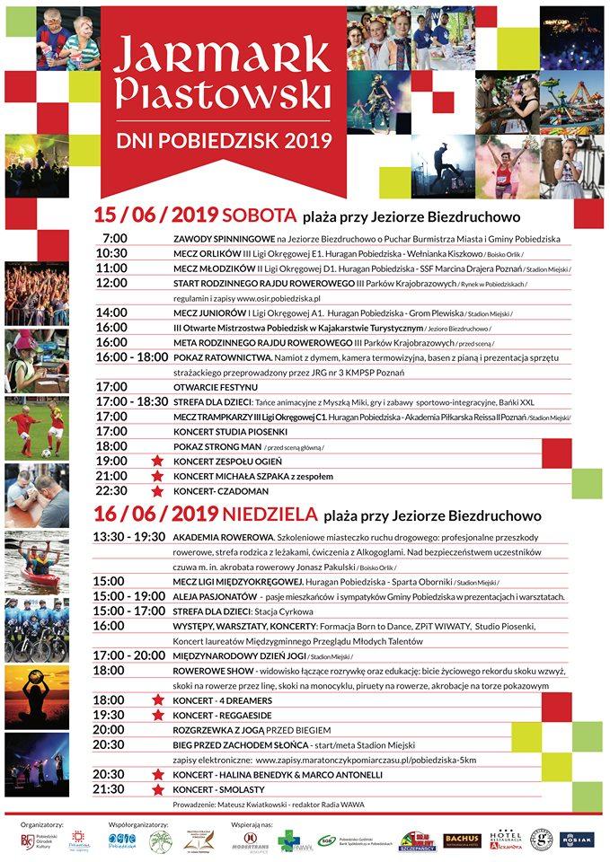 Program Jarmarku Piastowskiego 2019r. ost.