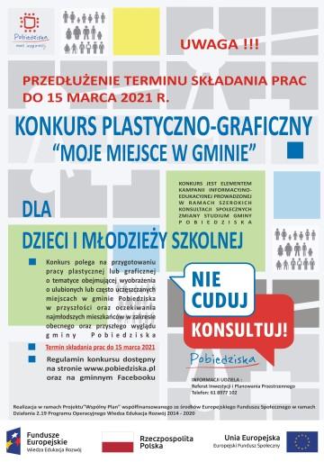 plakat niebieski0 na konkurs plastyczny PRZEDLUZENIE 03-03-2021